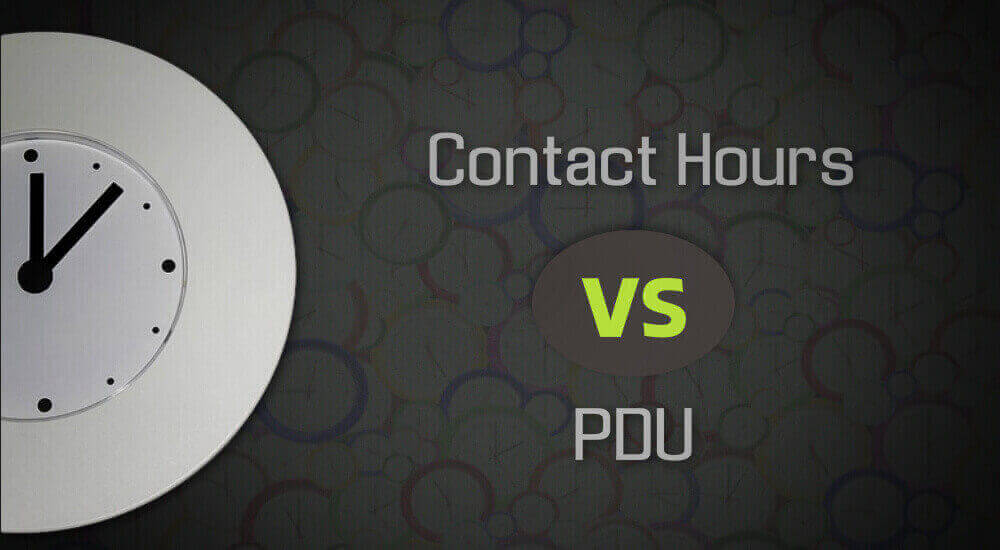 Contact Hours Vs Pdus